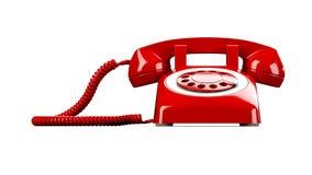 röd telefon stock illustrationer