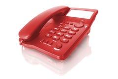röd telefon royaltyfri foto