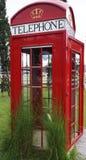 Röd telefonask Royaltyfria Bilder