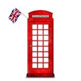Röd telefonask Royaltyfri Fotografi
