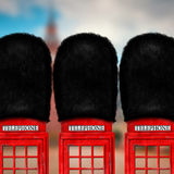 Röd telefonask Arkivfoton