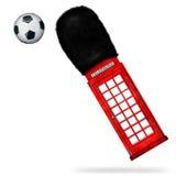 Röd telefonask Arkivbilder