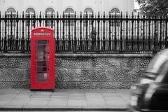 Röd telefonstolpe Royaltyfria Bilder