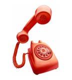 röd telefontappning royaltyfri bild