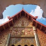 Röd tempel i fyrkanten Royaltyfria Foton