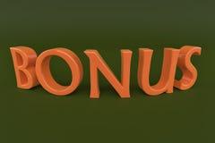 Röd text för bonus 3d Royaltyfri Fotografi