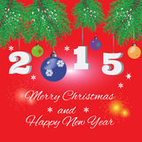 Röd text för julbakgrundshälsning Royaltyfri Fotografi