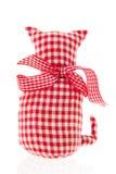 Röd textilkatt Royaltyfri Bild