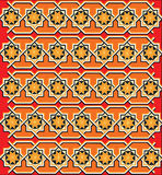 Röd textur eller prydnad Arkivbild