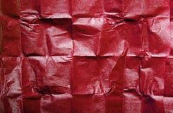 Röd textur för silkespapperpapper för bakgrund Royaltyfria Bilder