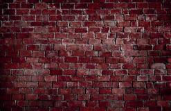 Röd texturerad bakgrund för tegelstenvägg arkivbild