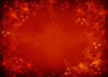 Röd texturerad stjärnabakgrund. Royaltyfria Bilder