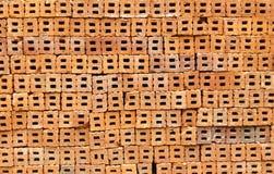 röd texturvägg för tegelsten Royaltyfria Bilder