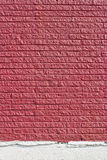 röd texturvägg för tegelsten Royaltyfri Bild