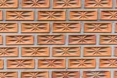 röd texturvägg för tegelsten Arkivfoto