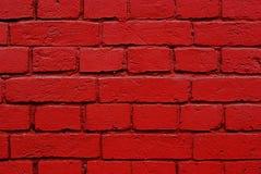 röd texturvägg för tegelstenar Royaltyfri Fotografi