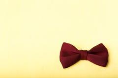 röd tie för bow Royaltyfri Foto