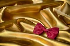 röd tie för bow Arkivfoton