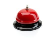 Röd tjänste- klocka Royaltyfria Foton