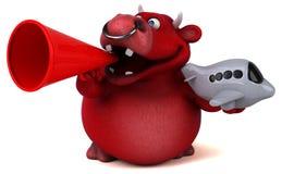 Röd tjur - illustration 3D Royaltyfri Fotografi