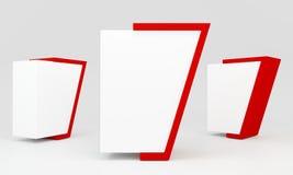 Röd tom lightbox Royaltyfria Bilder