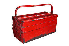 röd toolbox Arkivfoto