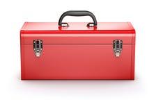 Röd toolbox royaltyfri illustrationer