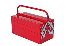 röd toolbox Royaltyfri Fotografi
