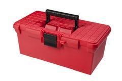 röd toolbox Arkivbild