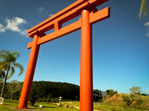 röd torii Royaltyfri Foto