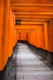 Röd torii på Japan royaltyfri foto