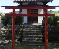Röd toriiport Royaltyfri Fotografi