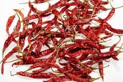 Röd torkad peppar för chili Arkivfoton