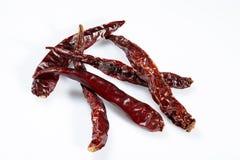 Röd torkad peppar för chili Arkivfoto