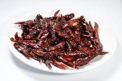 Röd torkad peppar för chili Royaltyfria Foton