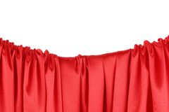 Röd torkduk På en vit bakgrund royaltyfri bild