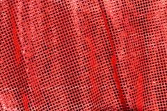 Röd torkduk. skinande sequins. Fotografering för Bildbyråer