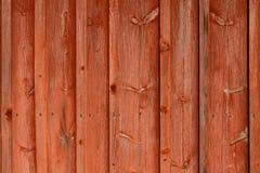Röd träbakgrund Royaltyfri Bild
