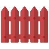 Röd trästaketsymbol, vektorillustration vektor illustrationer