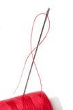 röd tråd Arkivbild
