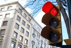 röd trafikyellow för klartecken Royaltyfria Foton