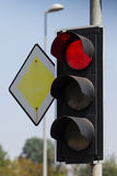 röd trafikyellow för klartecken Royaltyfri Fotografi