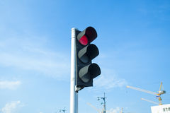 röd trafikyellow för klartecken Fotografering för Bildbyråer