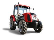 röd traktor Royaltyfri Bild