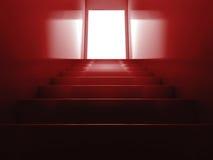 röd trappa Arkivbilder