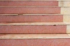 Röd trappa Arkivbild