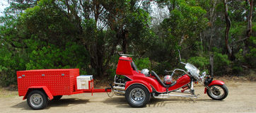 röd trehjuling Royaltyfria Foton