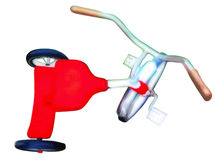 röd trehjuling Royaltyfri Bild