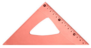 Röd triangel Royaltyfri Fotografi