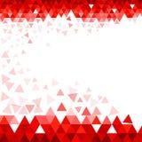 Röd triangelbakgrund stock illustrationer